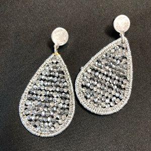 Jewelry - Silver beaded earrings.